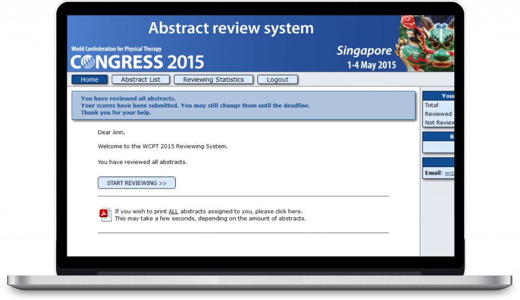 abstract management reviewing