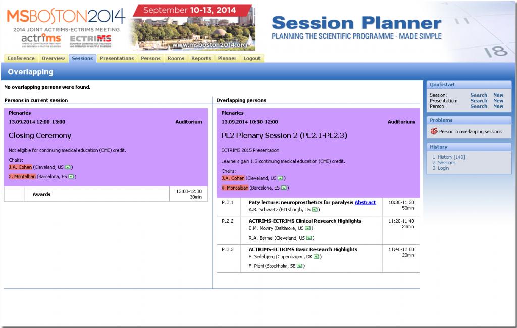 Conference planning psplanner